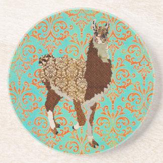 Llama Damask  Coaster