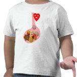 Llena de PANza, contento do corazón Camisetas