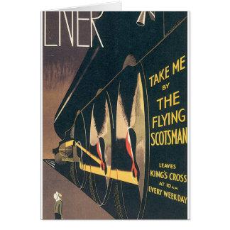 LNER o poster das viagens vintage do Scotsman do Cartão Comemorativo