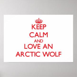 Lobo ártico pôsteres