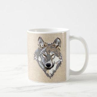 lobo caneca de café