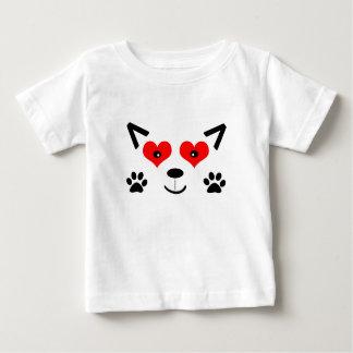 Lobo do bebê camiseta para bebê