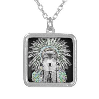 Lobo do chefe indiano bijuteria personalizada