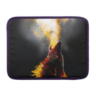 Lobo do fogo capa de MacBook