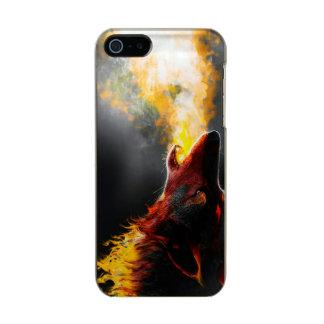 Lobo do fogo capa metálica para iPhone SE/5/5s