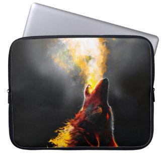 Lobo do fogo capa para computador
