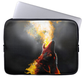 Lobo do fogo capa para notebook