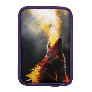 Lobo do fogo luva de iPad mini