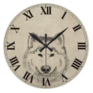Lobo do vintage relógio grande
