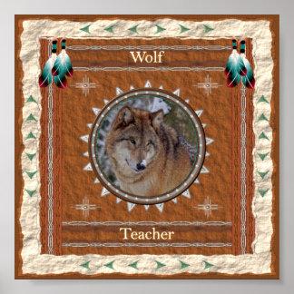 Lobo - impressão do poster do professor