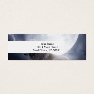 Lobo impressionante e lobo branco da lua cartão de visitas mini