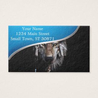 Lobo indiano - lobo cinzento cartão de visitas