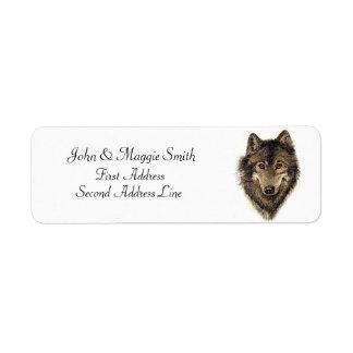 Lobo, lobos, animal selvagem, natureza, etiqueta endereço de retorno