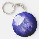 Lobo & lua chaveiros