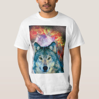 Lobo majestoso camiseta