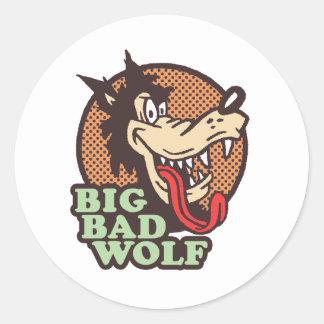 Lobo mau grande adesivo