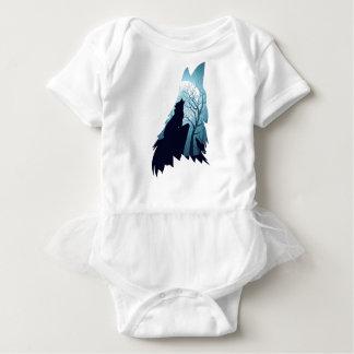 Lobo que urra com Forest2-01 Body Para Bebê