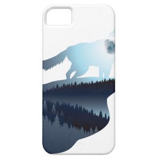 Lobo que urra na noite Forest1 2 Capas Para iPhone 5