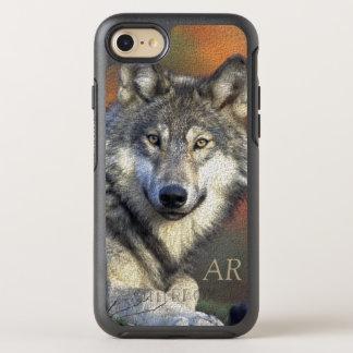 Lobo selvagem capa para iPhone 7 OtterBox symmetry