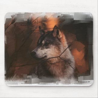 Lobo solitário 2 mouse pad