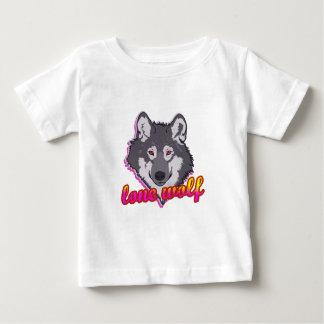 Lobo solitário, estilo do anos 80! camiseta para bebê