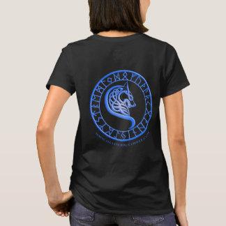 Lobos da camisa do azul da cavidade da cicuta