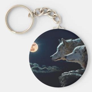 Lobos do lobo que urram na Lua cheia Chaveiro