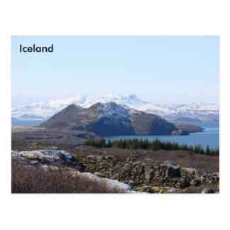 Local do UNESCO do parque nacional de Thingvellir, Cartão Postal