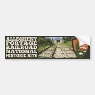 Local histórico nacional da estrada de ferro de adesivo para carro