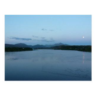 Loch Etive e cartão de Ben Cruachan