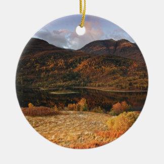Loch Leven, Glencoe, Scotland Ornamento De Cerâmica Redondo