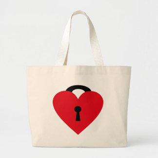 locked heart bolsas de lona