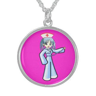 Locket da prata esterlina da enfermeira & do estet colar personalizado
