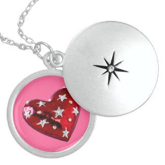 Locket Jeweled do coração dos namorados