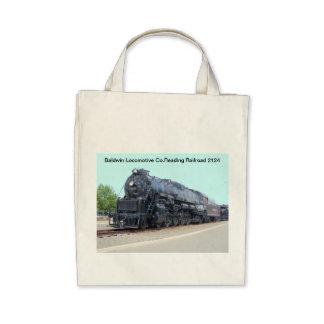 Locomotiva 2124 da estrada de ferro da leitura de  bolsa para compras
