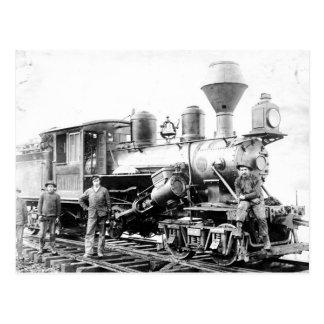 Locomotiva da estrada de ferro - foto do vintage cartão postal