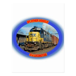 Locomotiva de CSX Cartão Postal