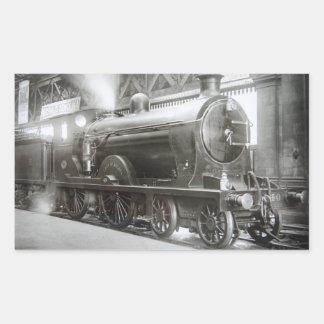 Locomotiva de vapor (senhora de Avenal) Adesivo Retangular