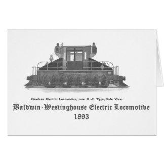 Locomotiva elétrica 1893 de Baldwin Westinghouse Cartão De Nota