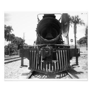 Locomotiva expressa da bala de canhão do trem do impressão de foto