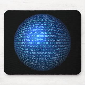 Lógica binária azul Mousepad