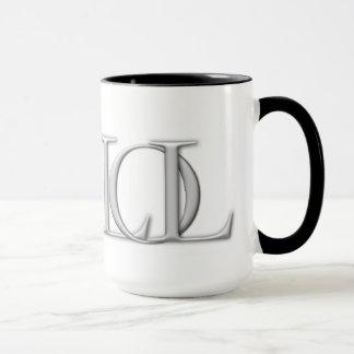 Lógica da caneca de café do logotipo da liberdade