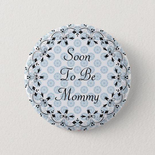 Logo para ser botão azul e preto das mamães bóton redondo 5.08cm