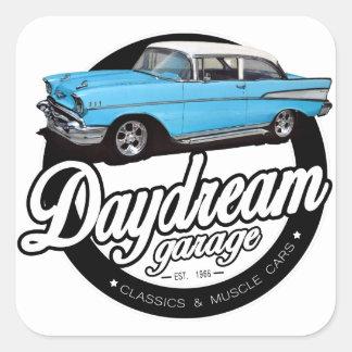 Logotipo 1957 da garagem do Bel Air de Chevy Adesivo Quadrado