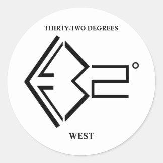 logotipo 32º ocidental adesivo