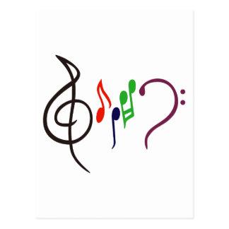 Logotipo abstrato da música cartão postal