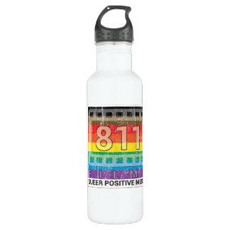LOGOTIPO AFLIGIDO de 811 filmes arco-íris novo 24 Garrafa D'água