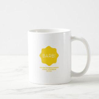 Logotipo amarelo caneca de café