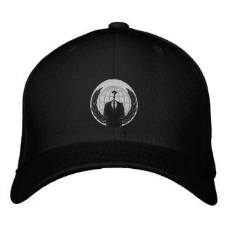 logotipo anónimo boné bordado