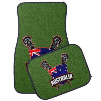 Logotipo australiano do Lacrosse da bandeira Tapete Automotivo